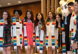 Graduating seniors celebrate their Latin heritage at a special commencement ceremony hosted by the Carolina Latinx Collaborative, which provides a supportive environment for students, faculty, staff and alumni to discuss and understand important issues that affect the Latino community.