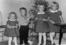 Courtesy of Wanda O'Neal The Lemna kids, Christmas 1964. From left: Wanda, Ron, Nancy, and Joanne. All but Wanda died from cystic fibrosis when they were children.