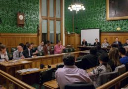 Andrew Reynolds and Logan Casey, along with other advocates for the global transgender community,  presented their findings on trans* people in electoral politics at the British Parliament in November.