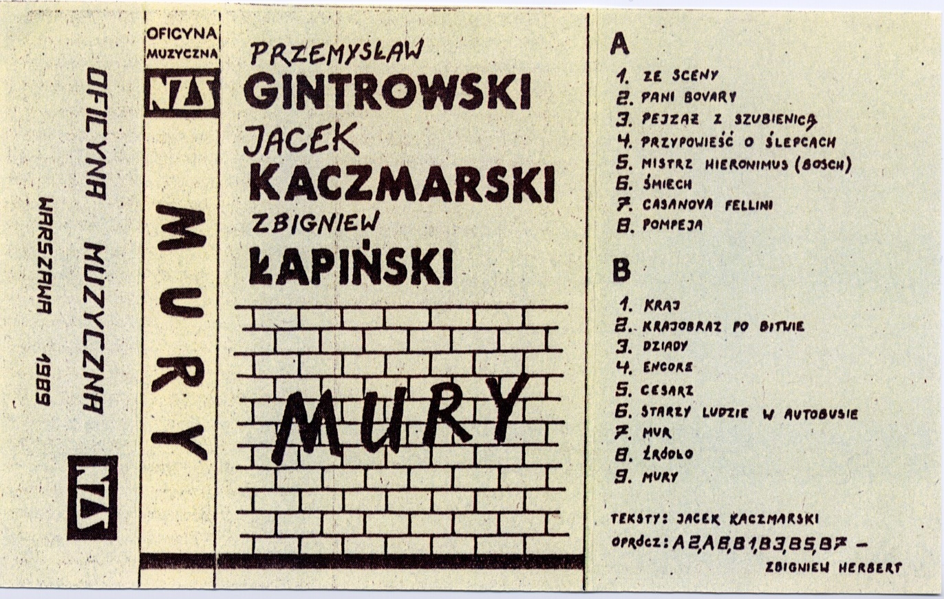"These liner notes were included with a cassette release of ""Walls"" published by Niezależne Zrzeszenie Studentów (Independent Students' Association), a student group affiliated with Solidarity."